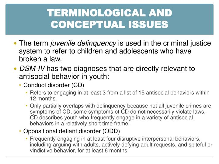 Terminological AND Conceptual Issues
