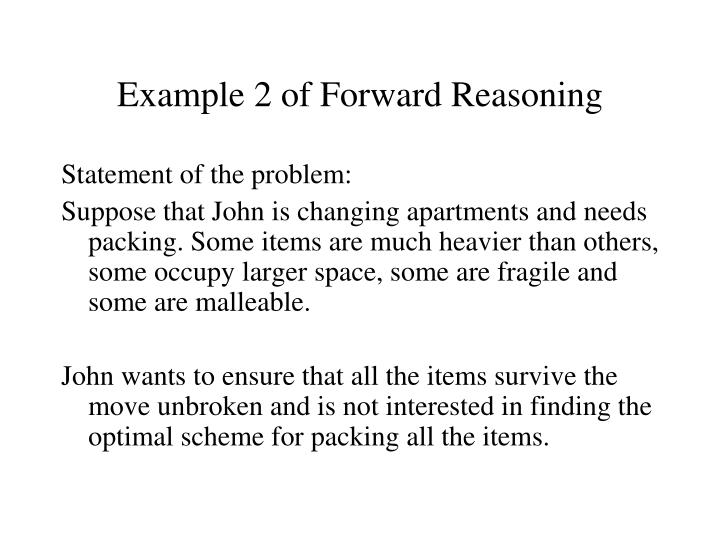 Example 2 of Forward Reasoning