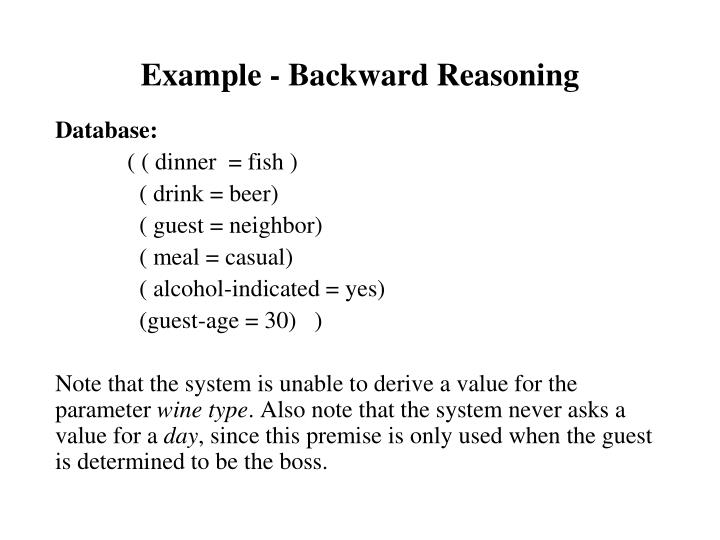 Example - Backward Reasoning