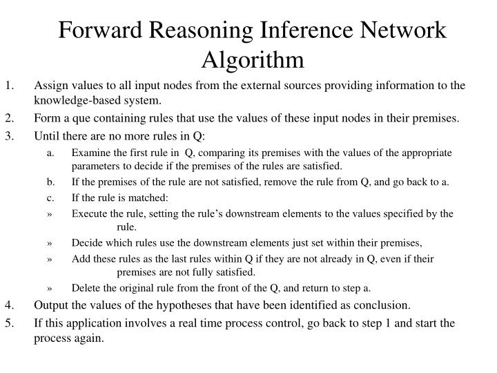 Forward Reasoning Inference Network Algorithm
