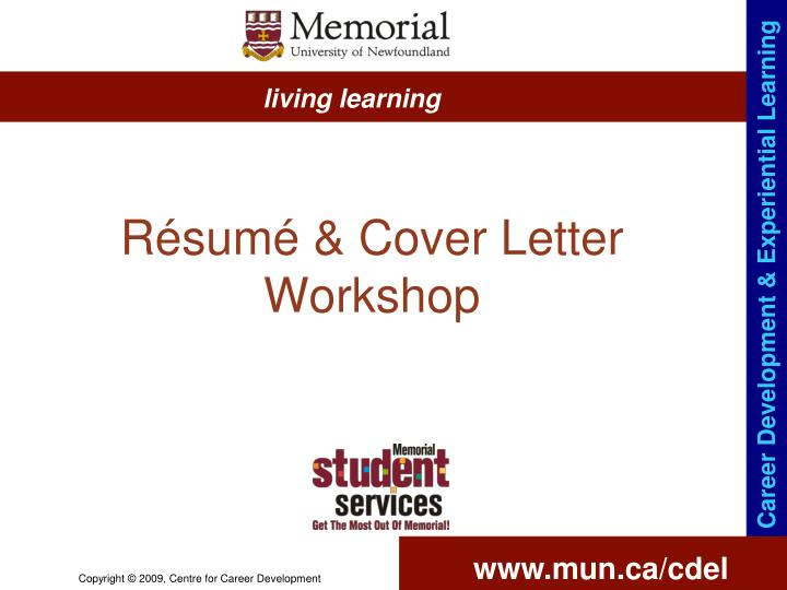 R sum cover letter workshop