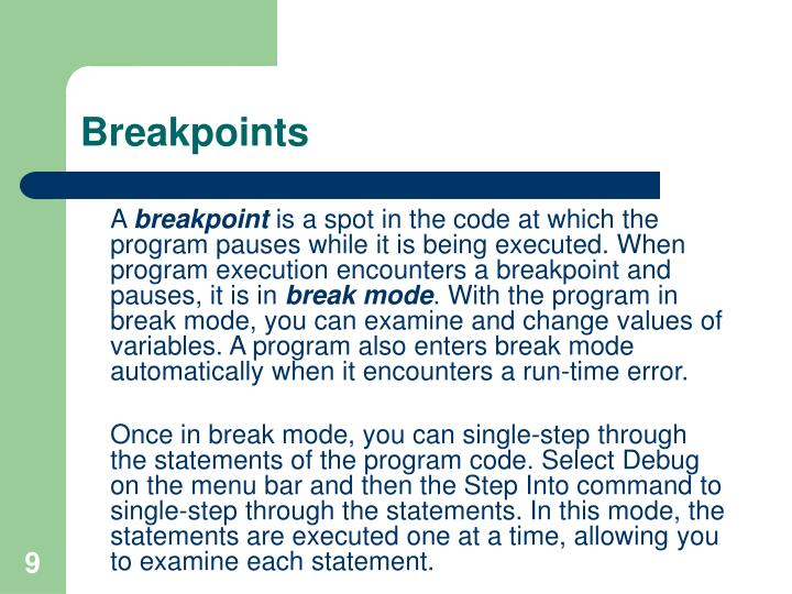 Breakpoints