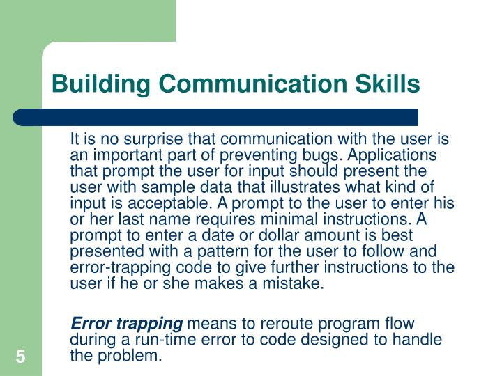 Building Communication Skills