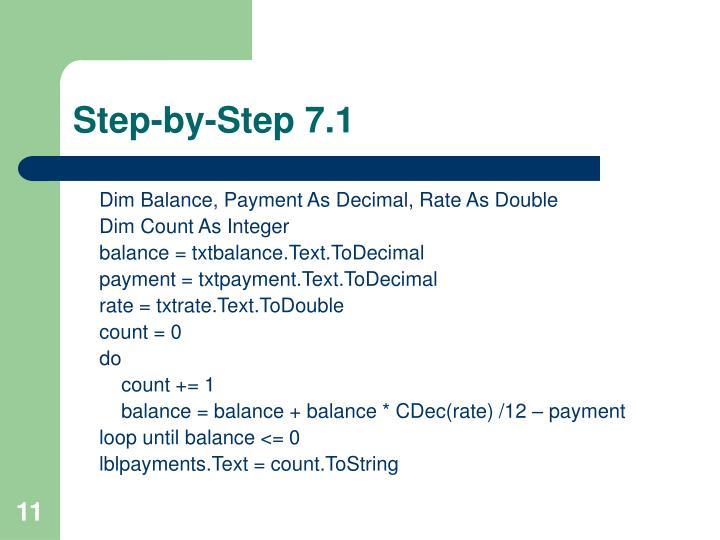 Step-by-Step 7.1