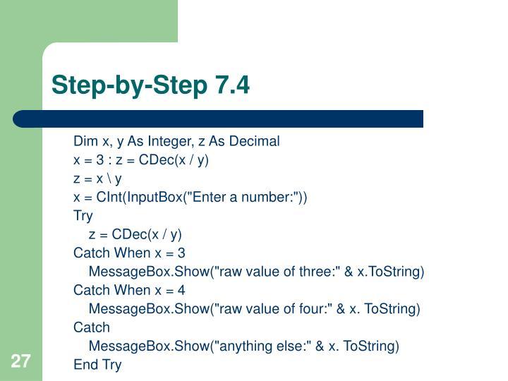 Step-by-Step 7.4