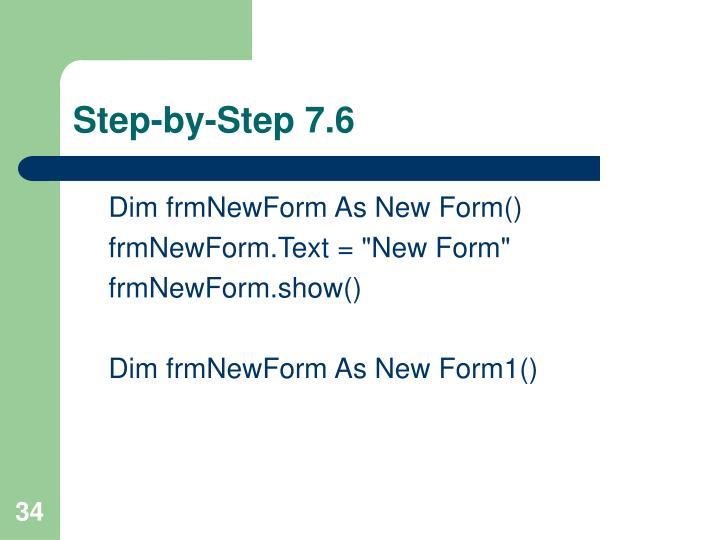Step-by-Step 7.6