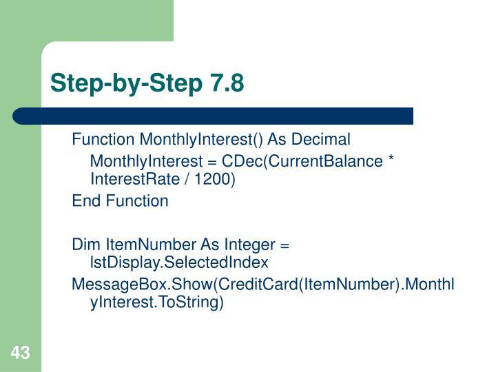 Step-by-Step 7.8