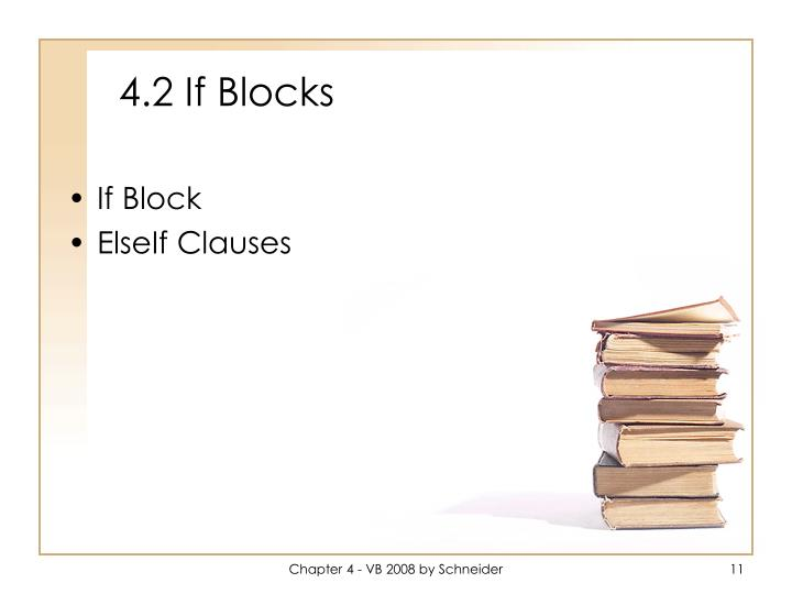 4.2 If Blocks