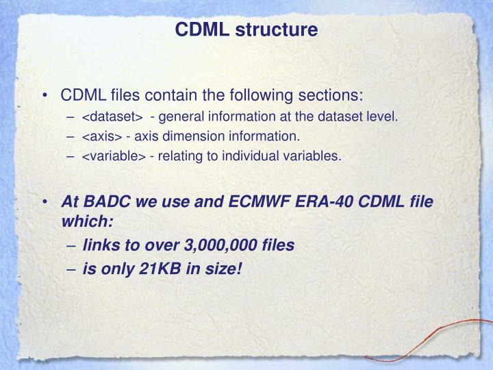 CDML structure