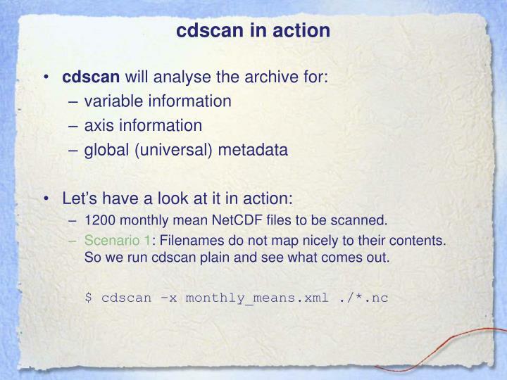 cdscan in action
