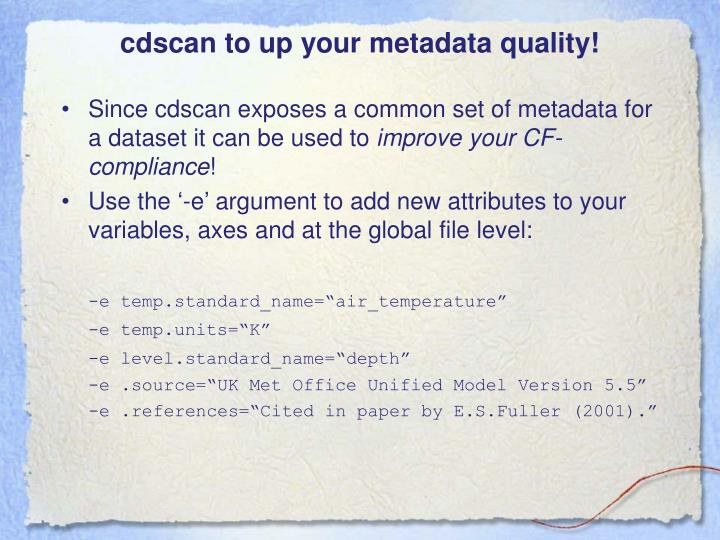 cdscan to up your metadata quality!
