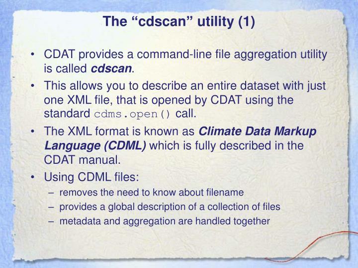 "The ""cdscan"" utility (1)"
