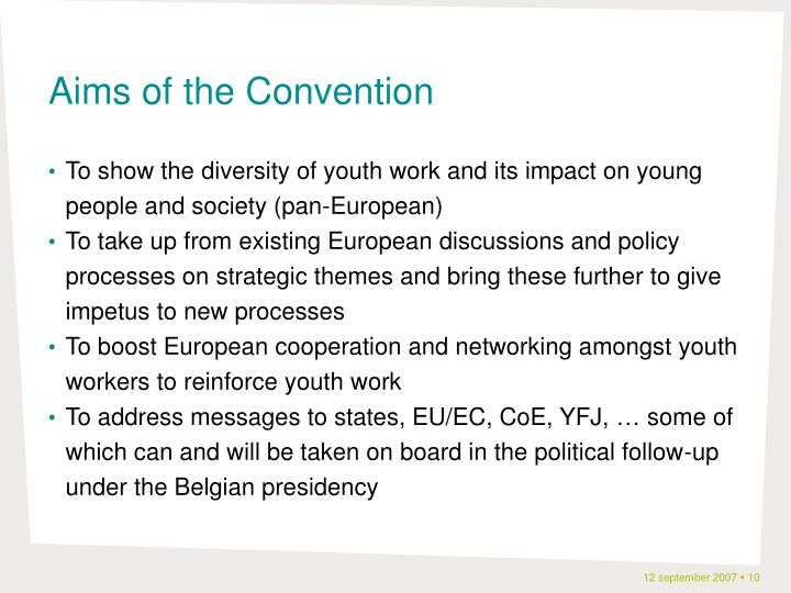 Aims of the Convention