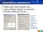 metapodatki dokumentov