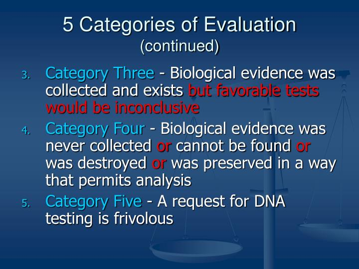 5 Categories of Evaluation