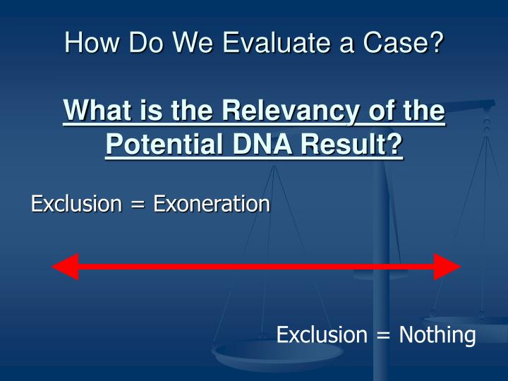 How Do We Evaluate a Case?