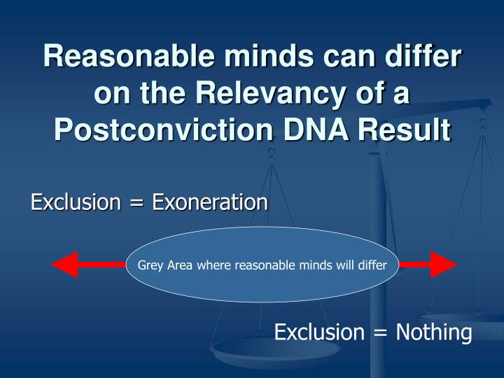 Reasonable minds can differ on the Relevancy of a Postconviction DNA Result
