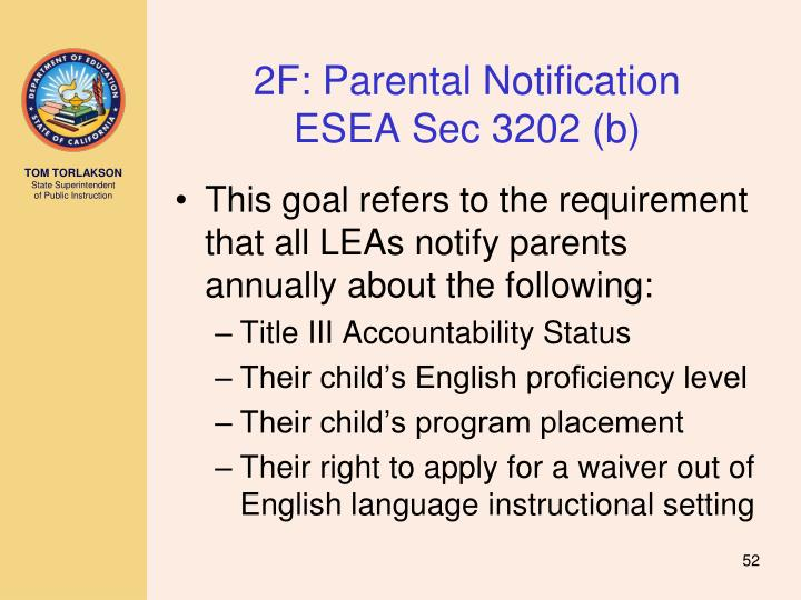 2F: Parental Notification