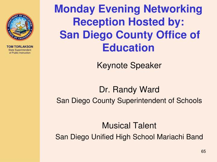 Monday Evening Networking Reception Hosted by: