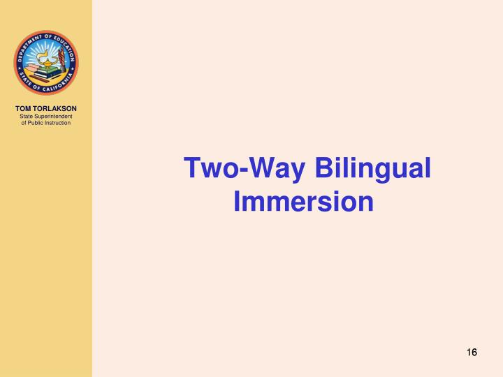 Two-Way Bilingual