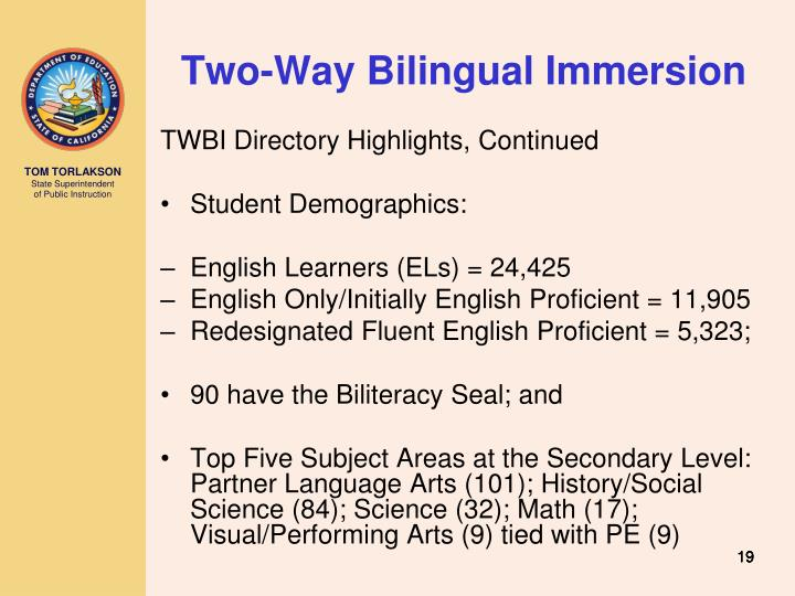 Two-Way Bilingual Immersion