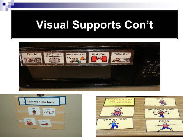 Visual Supports Con't