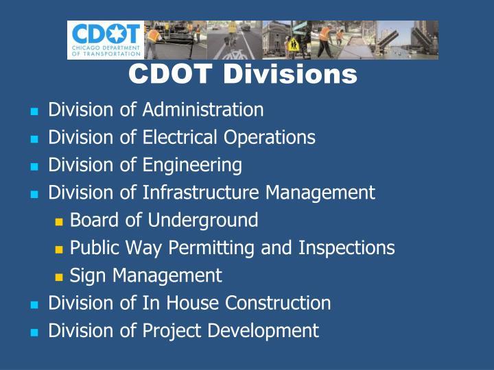 CDOT Divisions