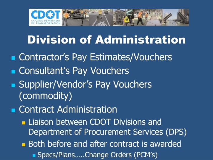 Division of Administration