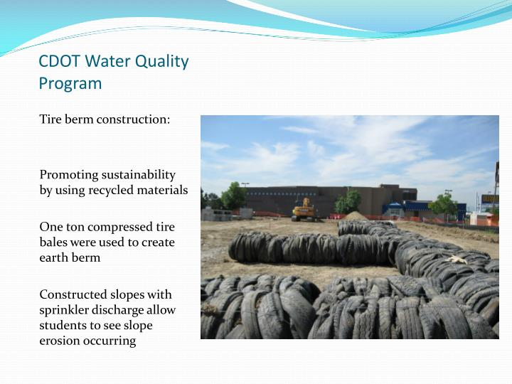 CDOT Water Quality Program