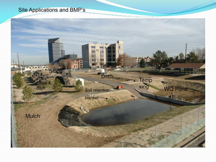 Site Applications and BMP's