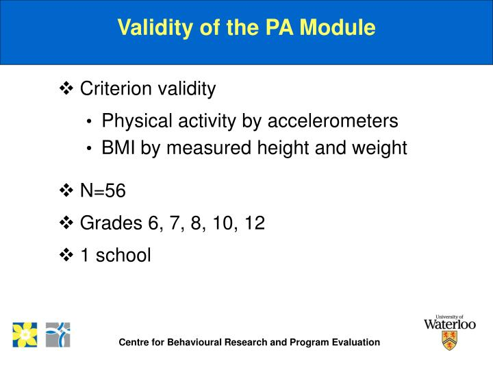 Validity of the PA Module