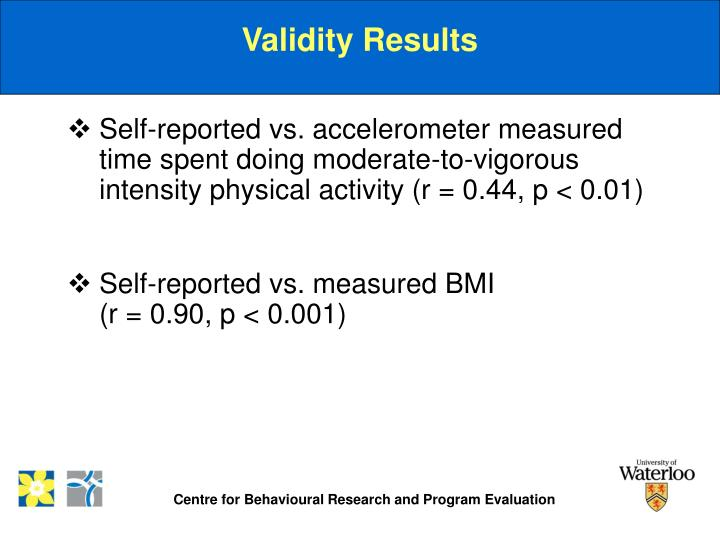 Validity Results