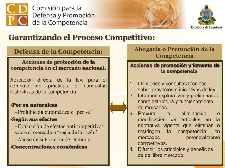 Garantizando el Proceso Competitivo: