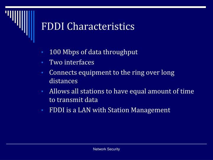 FDDI Characteristics