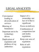 legal analysts