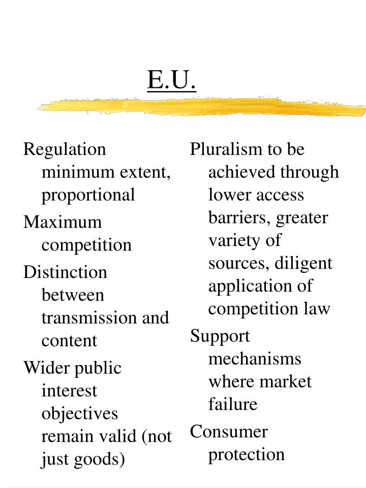 Regulation minimum extent, proportional