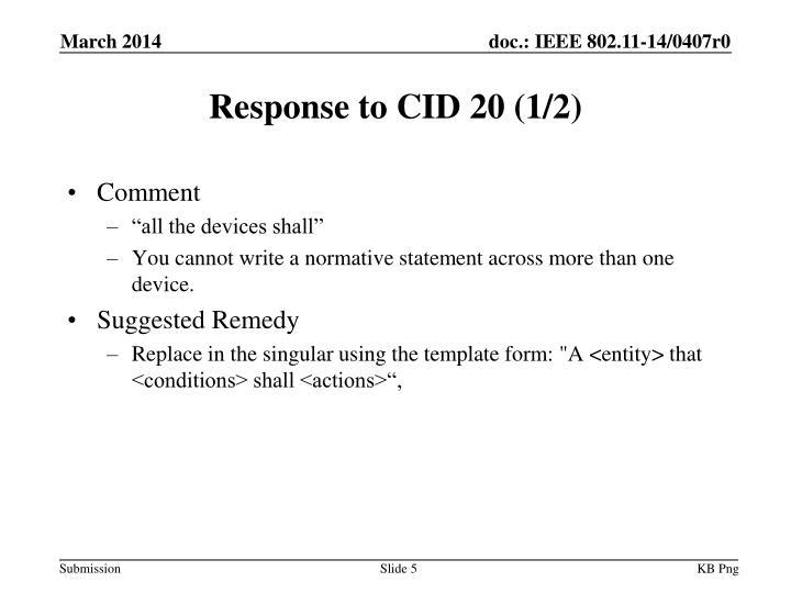 Response to CID 20 (1/2)
