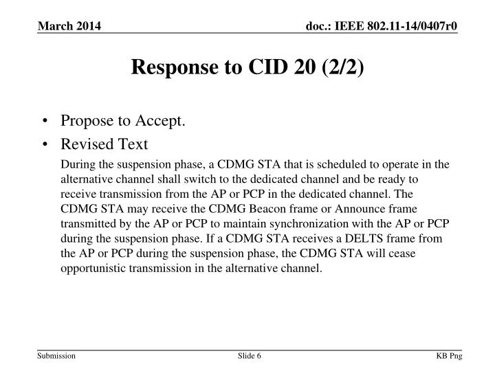 Response to CID 20 (2/2)