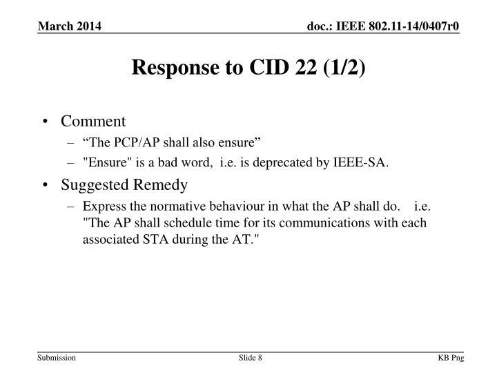Response to CID 22 (1/2)