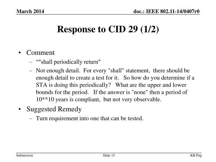 Response to CID 29 (1/2)