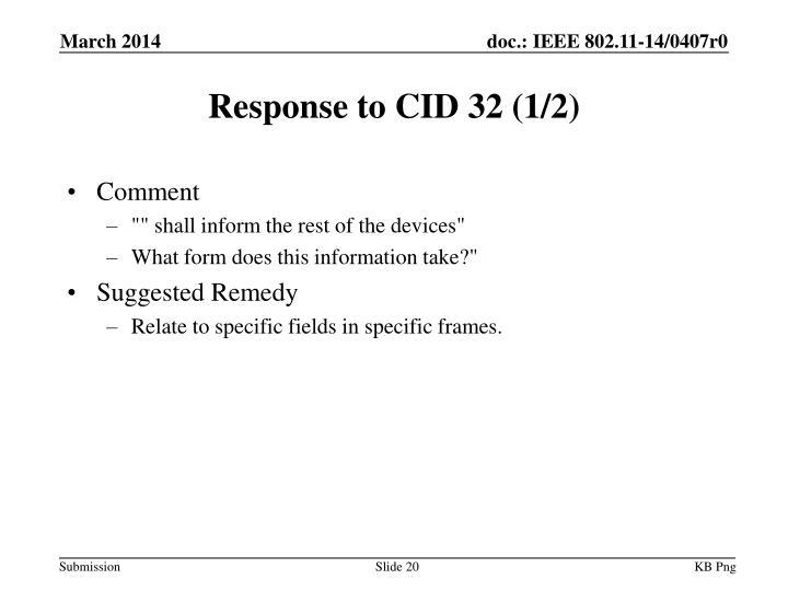 Response to CID 32 (1/2)