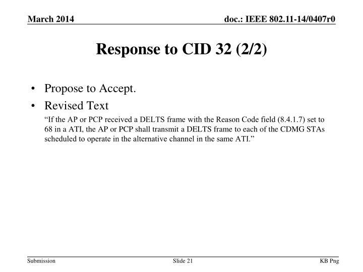 Response to CID 32 (2/2)