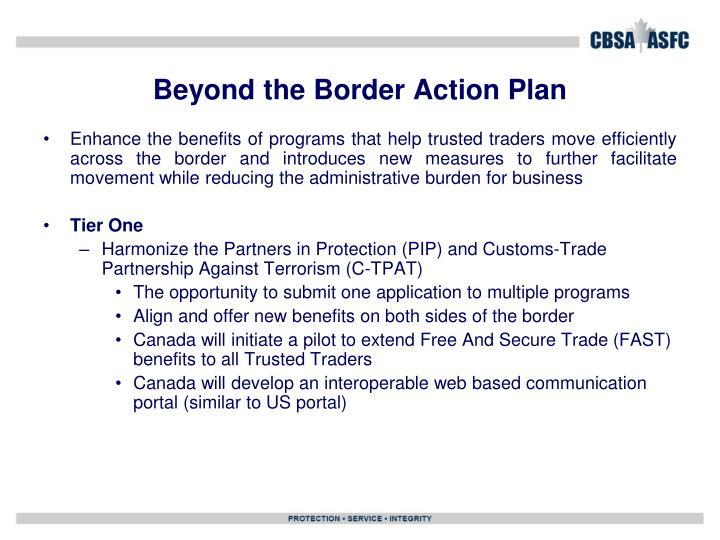 Beyond the Border Action Plan