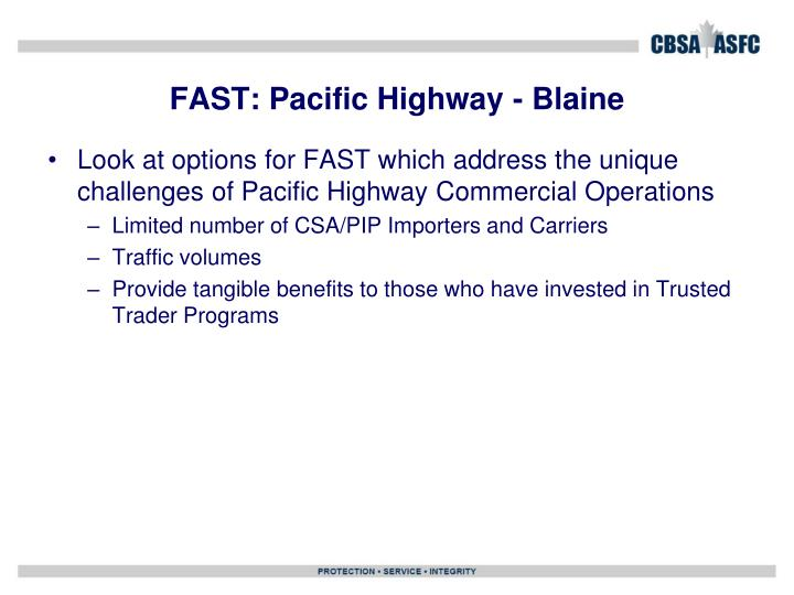 FAST: Pacific Highway - Blaine