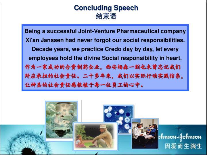 Concluding Speech