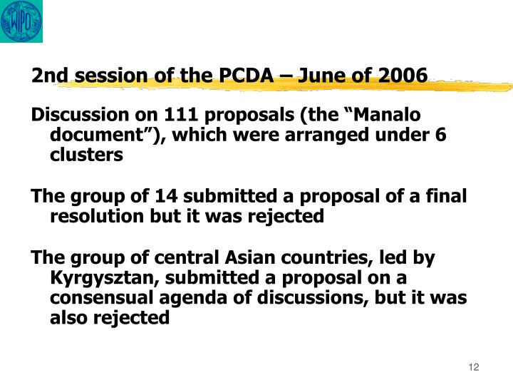 2nd session of the PCDA –