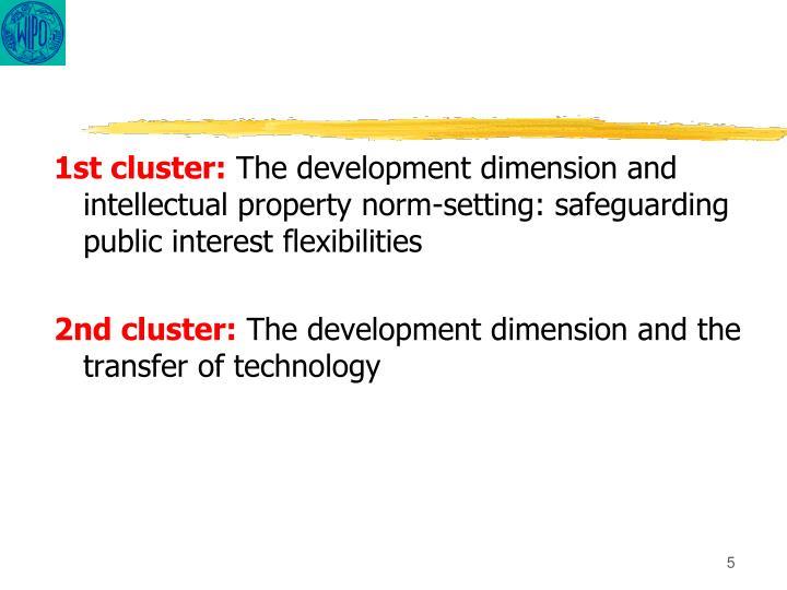 1st cluster: