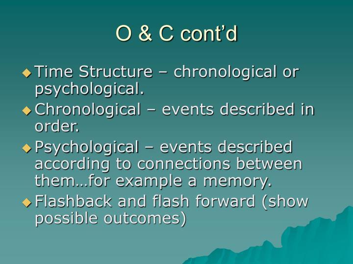 O & C cont'd