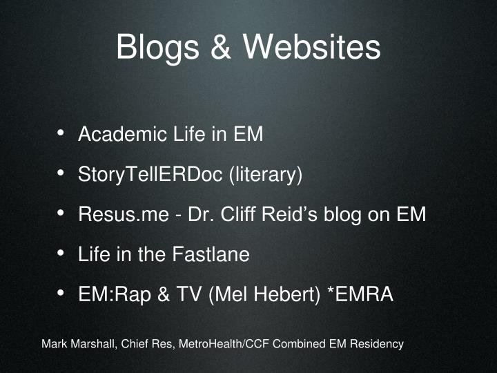 Blogs & Websites