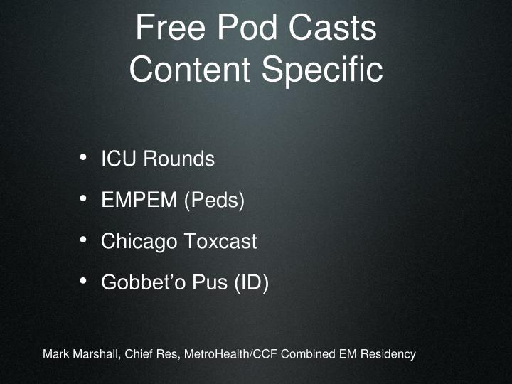 Free Pod Casts